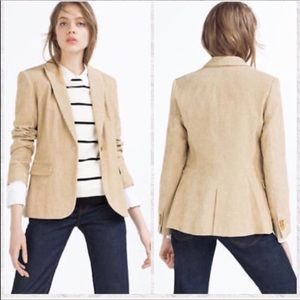 Zara Corduroy 1 Button Blazer Jacket